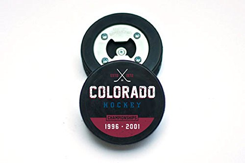 Colorado Champs Hockey Puck Bottle Opener, The PuckOpener, Magnetic Cap Catcher, Coaster Review
