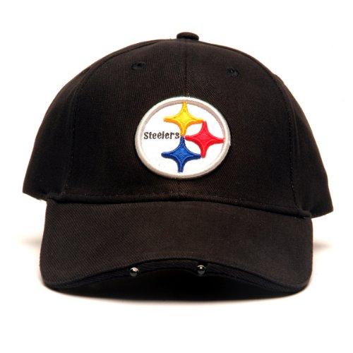 Fiber Optic Baseball Caps (NFL Pittsburgh Steelers Dual LED Headlight Adjustable Hat)