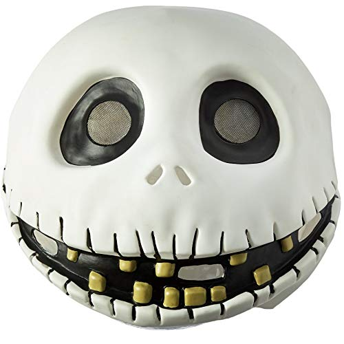 Disguise Men's The Nightmare Before Christmas Jack Skellington Mask, One Size ()