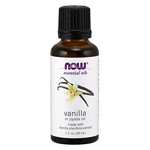 NOW Solutions Natural Vanilla Essential Oil (In Jojoba Oil), 1-Ounce