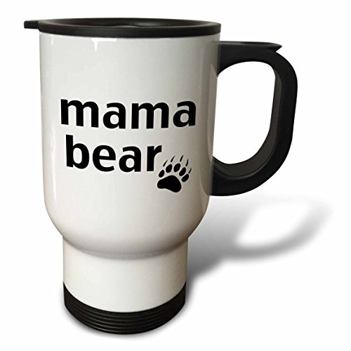 3dRose tm_123095_1 Mama Bear Travel Mug, 14-Ounce, Stainless