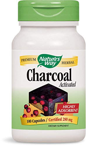 Nature's Way Charcoal Activated, 100 Capsules, 280 mg (Packaging May Vary)