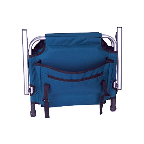 Stansport Folding Stadium Seat with Arms, Blue (19- X17- X5.5-Inch)