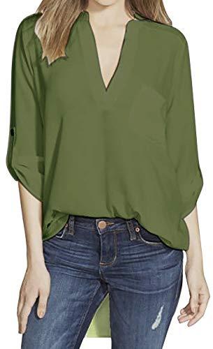 Chemisier Chemisier Femme Vert PENGYUE Femme Femme PENGYUE Chemisier Vert Vert PENGYUE wpUSq