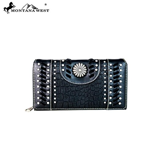 Montana West Concho Collection Wallet, Western Secretary Style - Collection Concho