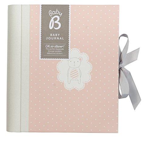 Busy B Baby B Babytagebuch Mädchen Dieses wunderschöne Erinnerungsbuch ist voll von Steckfächern, Erinnerungshilfen, Stickern und Ideen, pink
