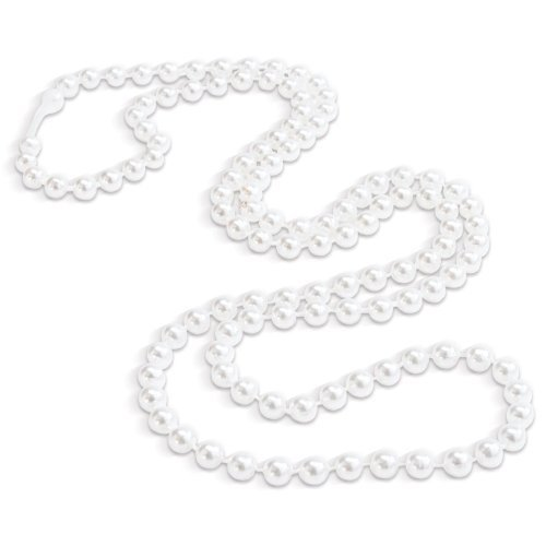 Rhode Island Novelty White Pearl Necklaces | Halloween | Birthday | Party Favor | 2 Dozen