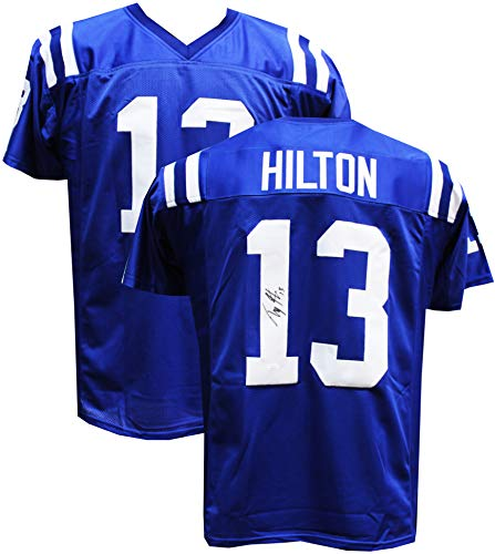 Reggie Wayne Signed Colts - Authentic T.Y. Hilton Autographed Signed Custom Jersey (JSA Witness COA) Indianapolis Colts WR