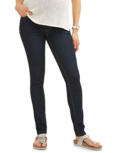 RUMOR HAS IT Maternity Embroidered Skinny Over The Belly Jeans (Medium, Rinse) ()