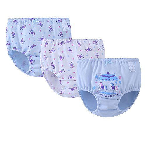 Price comparison product image ADAHOP Girls' Boyshort Toddler Briefs Cotton Underwear 3pk Panties