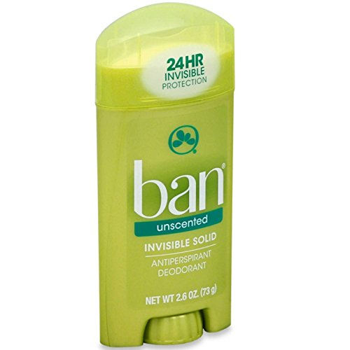 Ban Anti-Perspirant Deodorant Invisible Solid Unscented 2.60 oz ( Pack of 12) (Stick Deod)