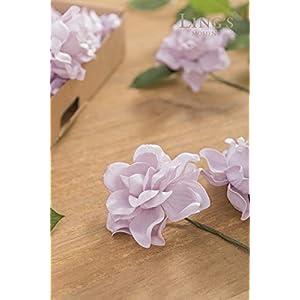 Ling's moment Artificial Flowers 25pcs Lilac Gardenias Flowers w/Stem for DIY Wedding Bouquets Centerpieces Arrangements Party Baby Shower Home Decorations 2