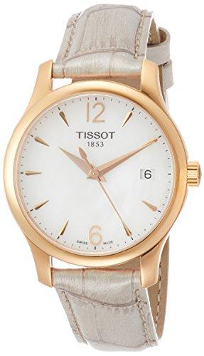 Tissot Tradition MOP Dial SS Leather Quartz Ladies Watch T0632103711700