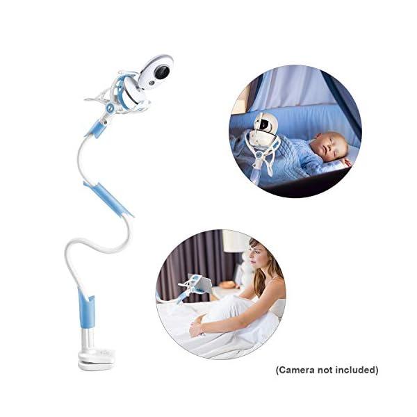 support blanc bleu babyphone vidéo