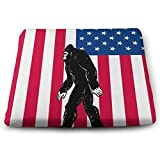 Bigfoot America Flag,Home Office Decoration Square Seat Chair Pad Fashion Seat Cushion