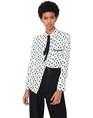 Mango Women's Printed Flowy Shirt