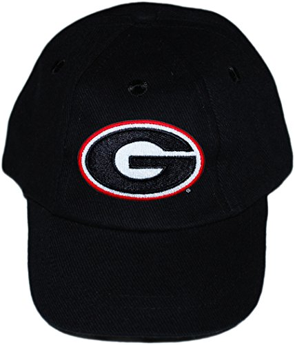 University of Georgia UGA Bulldogs Baby and Toddler Baseball Hat Black