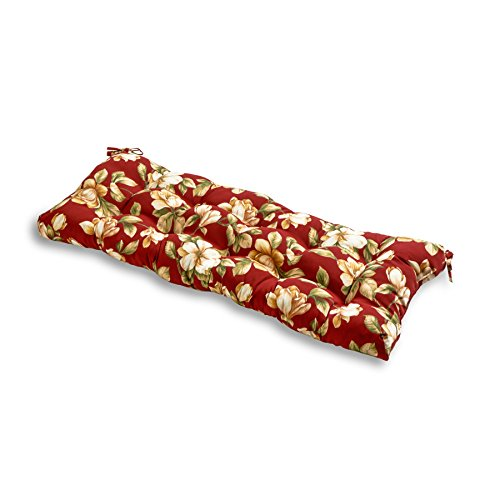 - Greendale Home Fashions Indoor/Outdoor Bench Cushion, Roma Floral, 51-Inch