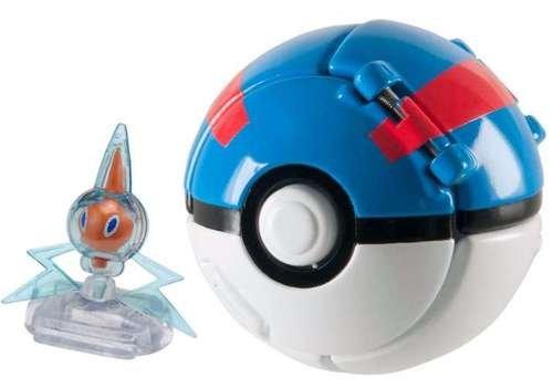 Pokemon Throw n Pop Pokeball Rotom /& Great Ball Figure Set