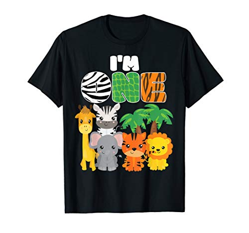 Jungle Birthday Ideas (I'm One Zoo Theme 1st Birthday Shirt Safari Jungle)