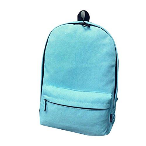 Clode® Mochila de hombro muchachos de las niñas de la escuela bolsa de mano del recorrido del morral de la taleguilla de las mujeres Cielo azul