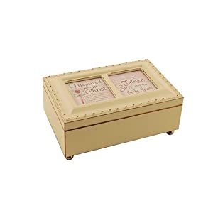 cottage garden batized in the name ivory petite music box jewelry box plays jesus. Black Bedroom Furniture Sets. Home Design Ideas