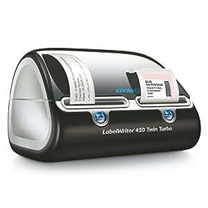 DYMO Label Writer 450 Twin Turbo label printer, 71 Labels Per Minute, Black/Silver (1752266)