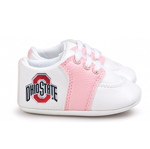- Future Tailgater Ohio State Buckeye Pre-Walker Baby Shoes - Pink Trim