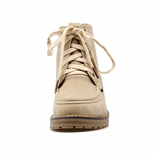 RFF-Womens Shoes Frosted Martin Boots, Ladies Size Boots, Student Boots,Beige,39