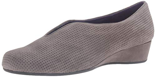 VANELi Women's Mango Grey Perforated Suede Loafer 5 M (B)