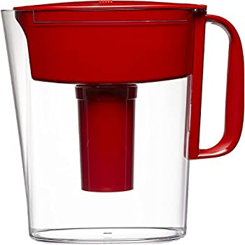 Brita Small 5 Cup Metro Water Pitcher with Filter - BPA Free - Red