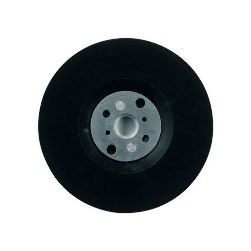 Supporto piatto D 115 mm x M14, con collo vite per dischi abrasivi in fibra, per smerigliatrice angolare Dronco 6211105