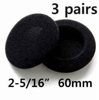 3 pairs 60mm Headphone Earphone Earbud Ear Pad earpad Foam Cover (Foam Pads For Headphones compare prices)