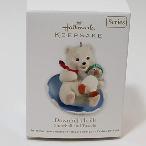 Hallmark Keepsake Ornament Snowball and Tuxedo 12th Downhill Thrills - Snowball Ornament