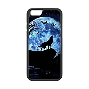 "DIY Phone Case for Iphone6 Plus 5.5"", Wolf and Moon Cover Case - HL-R664282"