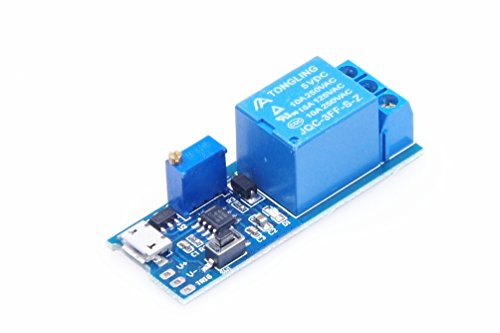 (KNACRO 5V-30V 1 Channel Wilde Voltage 0-24s Adjustable Delay Internal/External Trigger Relay Board with Timer Delay Conduction Delay Circuit Switch)