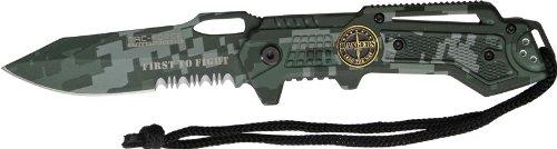 "3.5″ Tac-Force ""Interceptor"" Spring Assisted Tactical Folding Knife – Rangers – Digital Green Camo, Outdoor Stuffs"