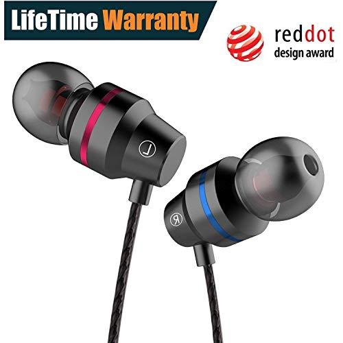 Earbuds Ear buds In Ear Headphones Wired Earphones with Microphone Mic Stereo and Volume Control Waterproof Wired Earphone ERJ0Y001