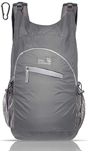 Outlander 20L/33L- Most Durable Packable Lightweight Travel Hiking Backpack Daypack (Waterproof Grey, 25L)