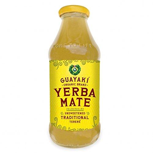 New Yerba Mate (Guayaki Organic Yerba Mate, Unsweetened Mate, 16 Ounce (Pack of 12))