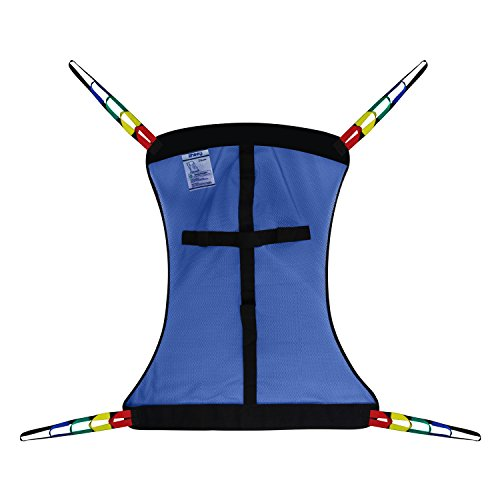 Full Body Patient Lift Sling, Mesh Without Commode Opening, Medium (Hoyer Nylon Mesh Bath Sling)