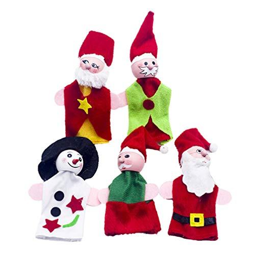 [해외]Amosfun Christmas Finger Puppets Finger Dolls Toy Set Educational Story Hand Toys for Kids Children Christmas Gift 5pcs / Amosfun Christmas Finger Puppets Finger Dolls Toy Set Educational Story Hand Toys for Kids Children Christmas...