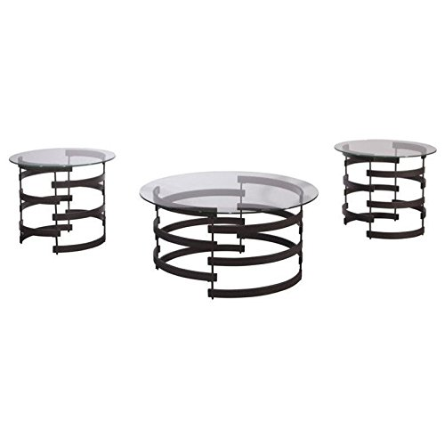 Ashley Furniture Signature Design - Kaymine Occasional Table Set - Contemporary - Set of 3 - Black