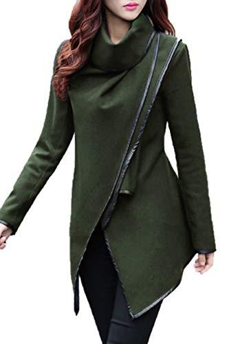Cazadora Moda Otoño De Abrigo Elegante Larga Slim Coat Y Tops Jacket Manga Invierno Outerwear Irregular Lana Mujeres Chaquetas Casual Parka Ropa Trench nxZC1qWZB