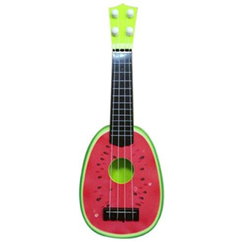 Hipzop Les enfants apprennent Guitar Ukulele Mini Fruit - Can Play - Instruments de musique Jouets (Rouge)