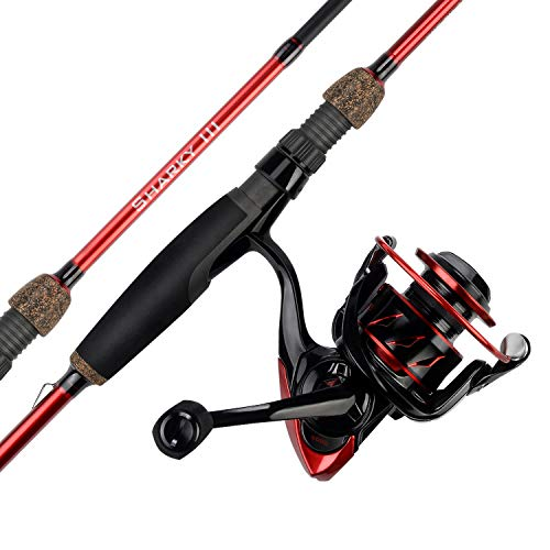 (KastKing Sharky III Spinning Fishing Rod and Reel Combos, Toray IM7 Graphite 2Pc Blanks, Fuji O-Ring Guides, Fuji Reel Seats, EVA Handles & Fighting Butt, Split Rear Handle Design, 6)