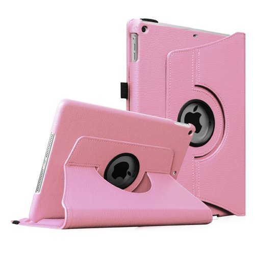 Fintie iPad mini 1 2 3 Case - 360 Degree Rotating Stand Case Cover with Auto Sleep Wake Feature for Apple iPad mini 1 iPad mini 2 iPad mini 3 - Pink
