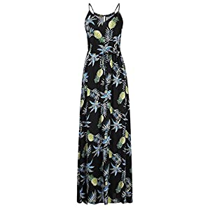 Leadingstar Women's Floral Casual Beach Party Maxi Dress