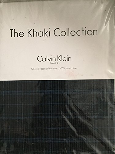 The Khaki Collection Calvin Klein INDIGO PLAID European Sham