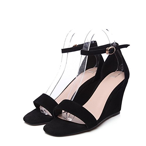 1TO9 Womens Sandals High-Heel Non-Marking Urethane Sandals MJS03131 Black y3UhI